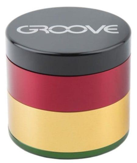 Groove 4 Piece Grinder In Rasta