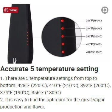 5 Temperature Settings