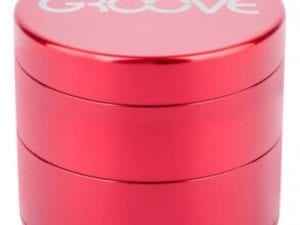 Groove 4 Piece Grinder In Red