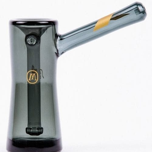 Marley Natural Smoked Glass Bubbler – Gold Stripe Decal