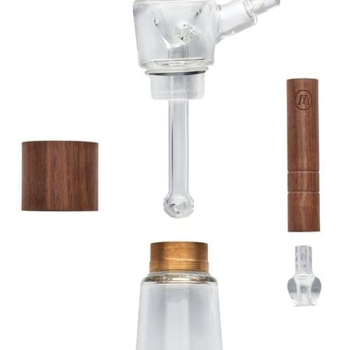 Marley Natural Glass & Walnut Bubbler