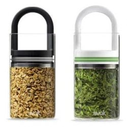 Evak Mini Glass Container – Frosted