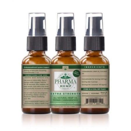 10z Bottle of Extra Strength 550mg Dosage CBD Spray