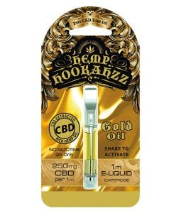 250mg prefilled gold cbd oil cartridge