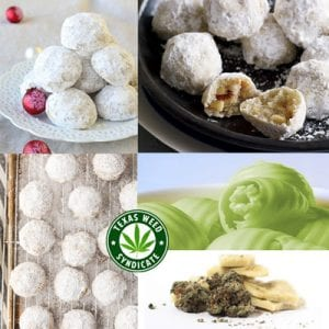 Snowball Christmas Cannabis Cookies