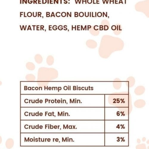 Bacon Flavored CBD Dog Biscuits