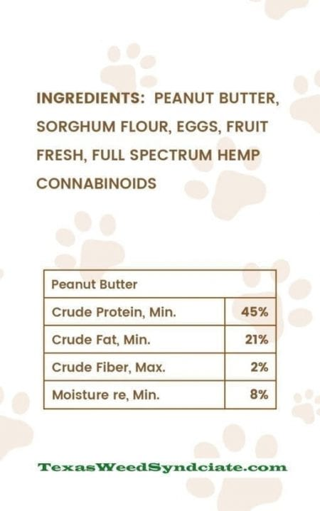 Quality Penaut Butter & CBD Dog Treat Ingredients