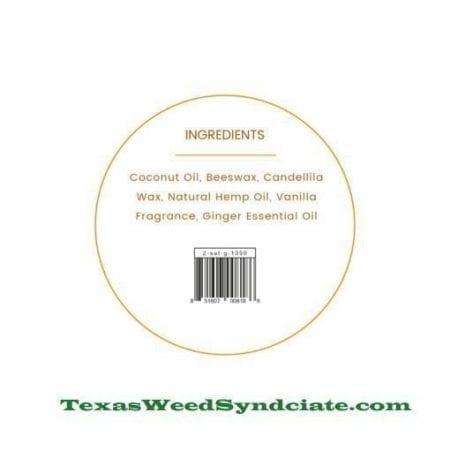 CBD body moisturizer ingredients