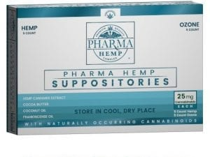25mg Hemp CBD Suppositories w/ Ozone