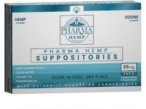 25mg Hemp CBD Suppositories w/ Ozone