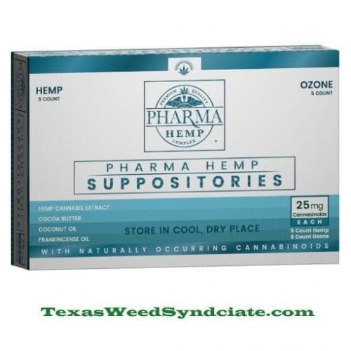 25mg Hemp CBD Suppositories 10ct