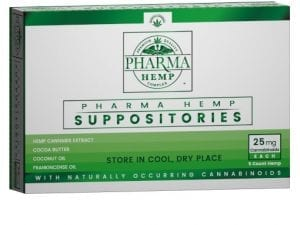 25mg Hemp CBD Suppository 5ct
