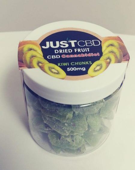 CBD Edible Made From Dried Kiwi