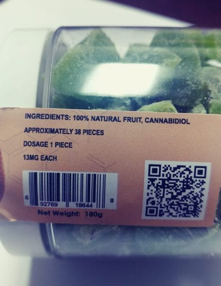JUST CBD Kiwi Ingredients