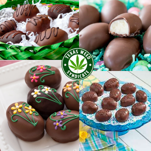 Cannabis Cream Filled Chocolate Easter Eggs