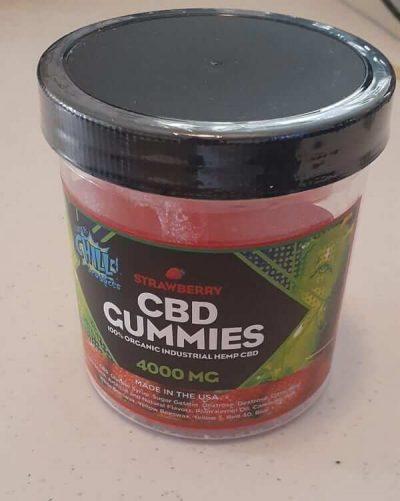 Strawberry High Potency CBD Gummies 4000mg