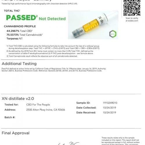 High Potency 500mg CBD & CBN Wax Cartridge