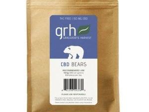 THC Free CBD Neon Gummy Bears 150mg/10pcs