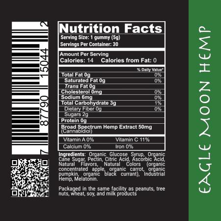 Nite Time Formula CBD Gummies Label