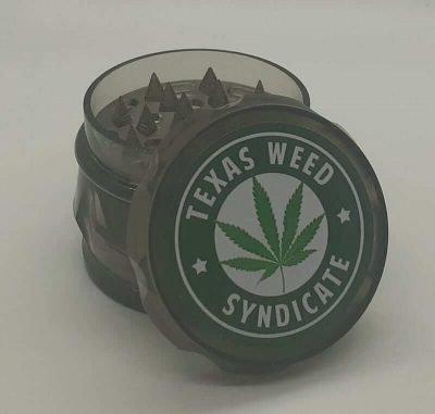 Black Plastic Herb Grinder