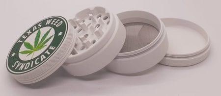 White Ceramic Coated Weed Grinder