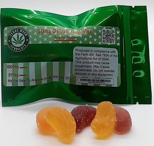 TWS 50mg Delta 8 Gummies Sampler Pack 250mg