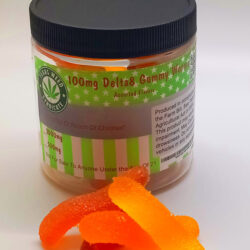 Delta 8 100mg Gummy Worms 500mg or 2000mg Packs