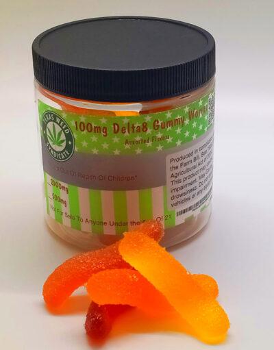 Premium High Potency 100mg Per Gummy Gummy Worms